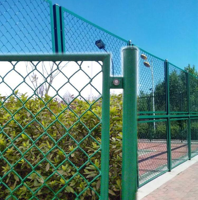 Frame Tube Chain Link Security Fencing System With Barbed Wire